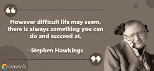 Entreprenueur Aspiring Quote- Stephen Hawkings