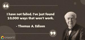 Entreprenueur Aspiring Quote- Thomas A. Edison